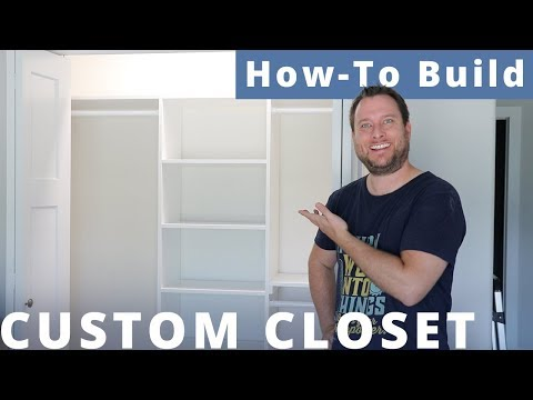 How To Build a Custom Bedroom Closet With 1 Sheet of Plywood for $100 | DIY Woodworking