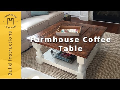 How to Build a Farmhouse Coffee Table