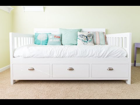 DIY Bed with Storage Drawers