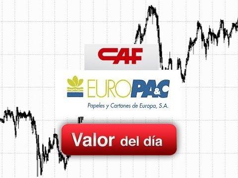 Análisis técnico de EUROPAC y CAF por Juan Enrique Cadiñanos en Estrategias Tv (12.01.12)