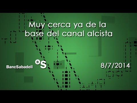 Video Análisis técnico Banco Sabadell: Muy cerca ya de la base del canal alcista 08-07-14