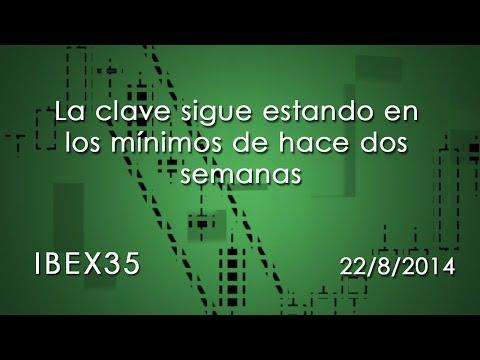 Vídeo análisis técnico Ibex35, la clave en los mínimos de hace dos semanas 22-08-14