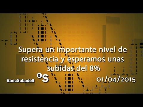 Vídeo análisis técnico Banco Sabadell: Supera un importante nivel de resistencia y esperamos unas subidas del 8% 01-04-15