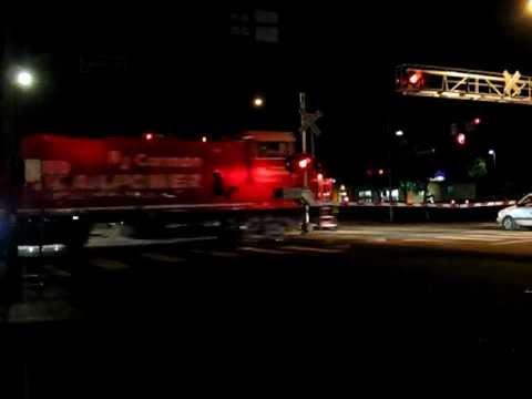 NWP 1st night train RJCorman southbound out of Petaluma 11-23-2011.AVI