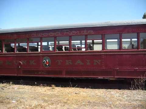 Skunk Train in Willits CA 8/20/2011
