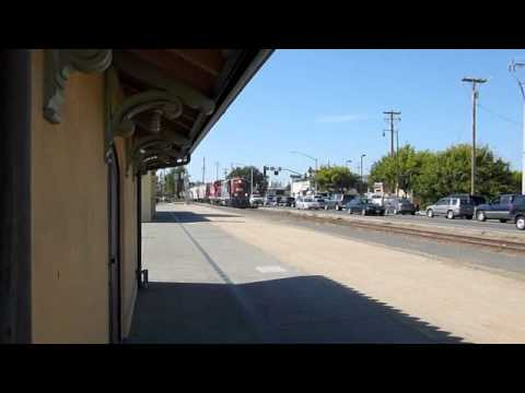 NWP 1922 & RJC 2009 + 9 MT's SB Petaluma Depot