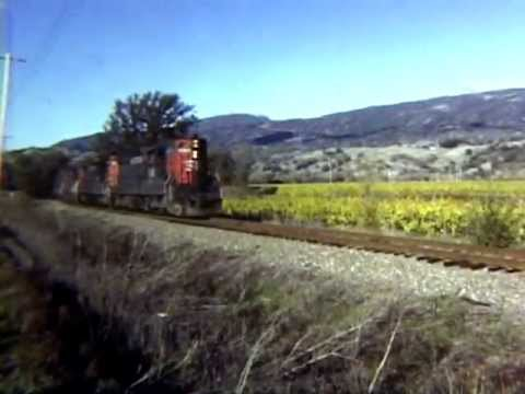 California Railroads in the 1980's