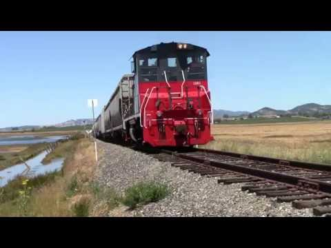 HD 60fps: NWP 1501 leads the Petaluma and Schellville Turn. 07/10/2016