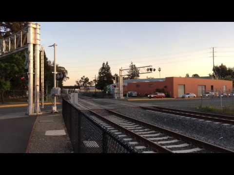 SMART Test Trains at Santa Rosa Railroad Square