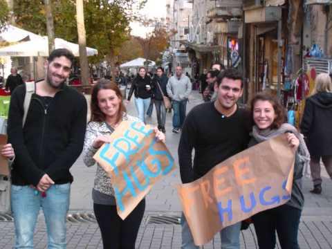 Free Hugs Jerusalem Dezembro 2012