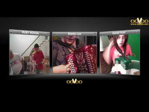 ooVoo used to teach button accordion lesson 2 book 2