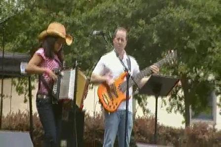 Texas Folk life accordion contest