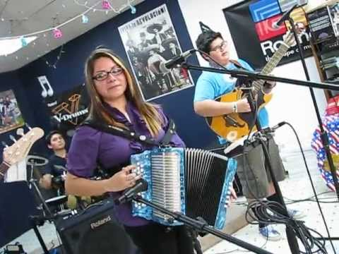 Yesey Garcia Practicing for the Mollie B. Polka Show TV Taping