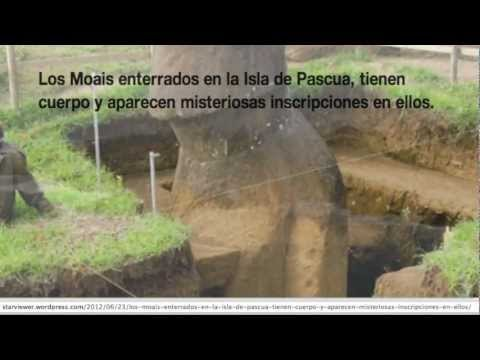 Moais enterrados en la Isla de Pascua, tienen cuerpo y aparecen misteriosas inscripciones en ellos.