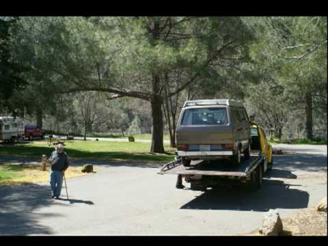 T-Rex getting towed