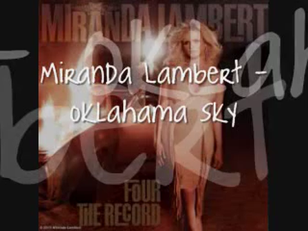 Miranda Lambert - Oklahoma Sky [Lyrics On Screen]