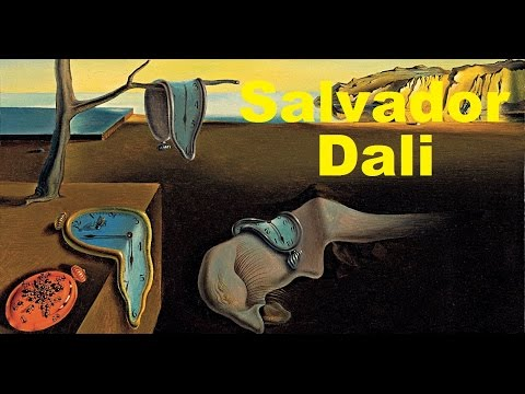 Collection of Salvador Dali Paintings w/ Music