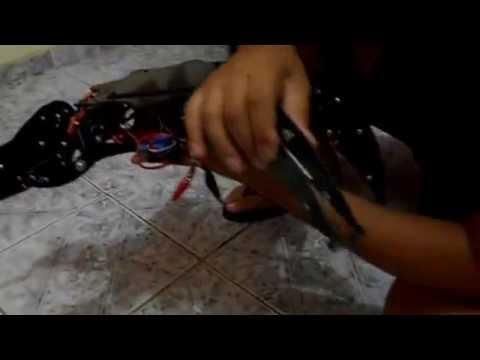 Aranha Hexapod com Laser Mortal!  (Death Ray Laser DRONE BOT!!!)