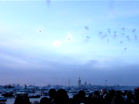 Питерский салют в честь дня победы