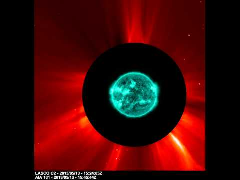 NASA SDO & NASA SOHO - Three X-class Solar Flares seen by Two Spacecrafts