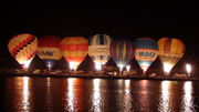Hot air balloon night glow to the sound of music