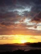 sunset on Kauai, honeymoon July 2009