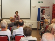Pauline Rowson reading from DI Horton novel The Suffocating Sea, Ringwood U3A June 2014