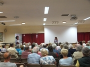 Crime author Pauline Rowson talking about her crime novels to Solent U3A June 2014