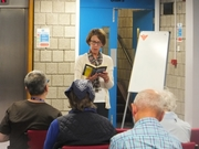 Pauline Rowson reading from DI Andy Horton novel The Suffocating Sea, Worthing Library June 2014