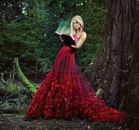 Forest Canopy Lady in Red