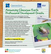 2011 Wildlife Conservation Professional Development Grants