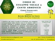 workshop Sviluppo Vocale & Canto Armonico