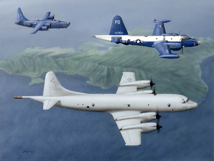 P-3 Orion, P2V- 7 And PB4-2 Privater Patrol Aircraft