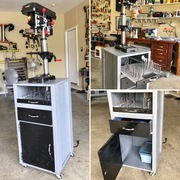 Drill Press Mobile Stand, Cabinet and Work Station