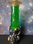 UFO lamp with Kirks stars and moon glitter