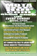 Where Music Professionals Connect, MotaHipHop.com Radio Sunday's from 5pm-7pm eastern time