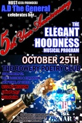 5TH YR ANNIVERSARY-OCT 25-NOW BOOKING ELEGANT HOODNESS MUSICAL PROGRAM