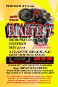 Perform at Bikefest Memorial Day Weekend, Atlantic Beach, SC