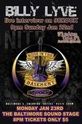 """Billy Lyve on 98 Rock, Jan. 22nd & in 98 Rock's """"Noise in the Basement"""", Jan. 23rd!"""
