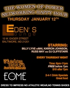 "Billy Lyve @ Eden's Lounge in ""The Women of Power Networking Happy Hour"""