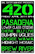 """Billy Lyve in DNL Ent. Presents...""""420"""", April 20th @ Brew River!"""