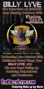 """Performing Live at Baltimore Sound Stage, see Billy Lyve in 98 Rock's """"Noise in the Basement""""!"""