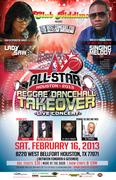 All-Star Houston 2013 Reggae/Dancehall Takeover Live Concert