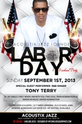 SUN SEPT 1ST LABOR DAY WKND PARTY @ACOUSTIX JAZZ LOUNGE FEAT R&B GREAT TONY TERRY PERFORMING LIVE!!