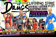 SUNDAY APRIL 27TH IS THE OFFICIAL GRAND OPENING OF THE DRÜGS CLOTHING STORE 1189 WYLIE ST ATL FROM 3PM-10PM!!!