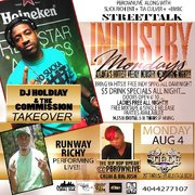 """MON 8/4  ALL NEW """"INDUSTRY MONDAYS"""" @DJHOLIDAY & THE COMMISSION TAKEOVER @SUEDELOUNGE"""