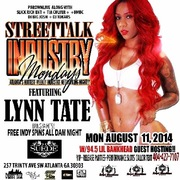 "8/11 ALL NEW ""INDUSTRY MONDAYS"" FEATURING @LILBANKHEAD945 & @LYNN_TATE @SUEDELOUNGEATL HOSTED BY @PBROWNLIVE CRUM.COM, BIG JOSH & @5WAYBEEZY 4INFO CONTACT @TiaCulver 7708965685"
