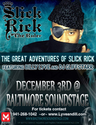Billy Lyve Opens for Slick Rick Dec. 3rd at Baltimore SoundStage