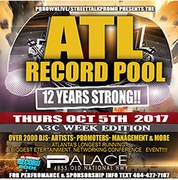 Thursday Oct 5th ATL RECORD POOL A3C Week Edition
