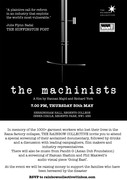 Special Screening of the Documentary, 'The Machinist' - Fundraising Event